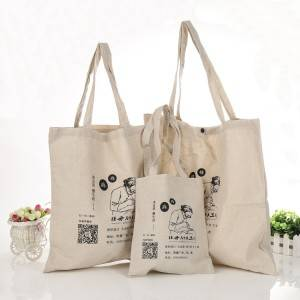 Factory degradable customized organic cotton bag shopping gift waxed canvas tote bag eco friendly tote bag