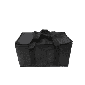 Zipper Black Cooler Bag Waterproof Extra Large Insulation Bag Picnic Lunch Foil Cooler Bag For Food Fresh Keeping