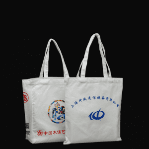 Cheap recyclable custom logo printed cotton canvas bag with handle