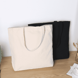 reusable organic grocery shopping eco friendly 100% cotton produce canvas tote bag with gusset