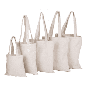 High quality reusable custom logo printed shopping canvas cotton tote bag