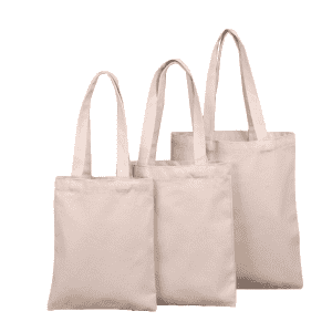 Natural blank custom logo printed eco-friendly cotton canvas tote bags in stock