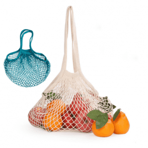 Nordic Style Eco Friendly Hanging Cotton Mesh Recycle Shopping Bags Canvas Shopping Bag