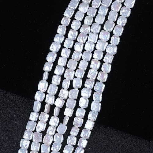 AAA Grade 10x10mm pearls, 16 strand, Fresh Water Pearl, Fancy Square Freshwater Pearl