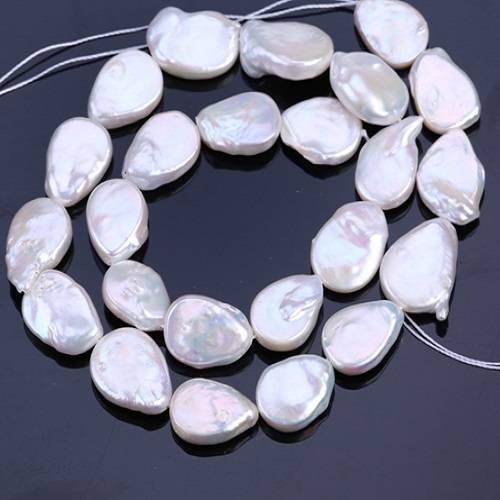 AAA Grade Full 16 strand, 12x16mm, Fresh Water Pearl, Fancy Tear Drop Pearl