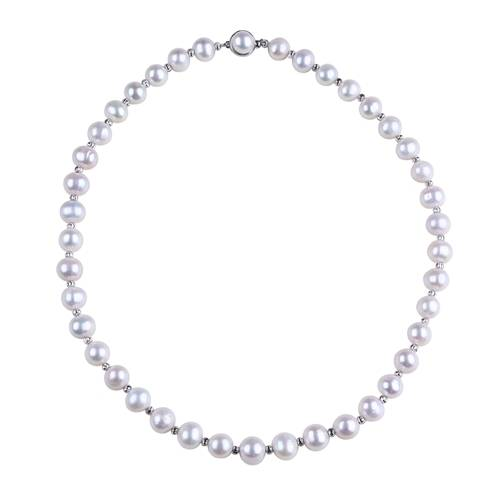 Top Quality Pearl Products - Women's Pearl Choker Necklace, Sterling Silver Pearl Necklace, Beaded Pearl Necklace,PN003 –  Daking Jewellery