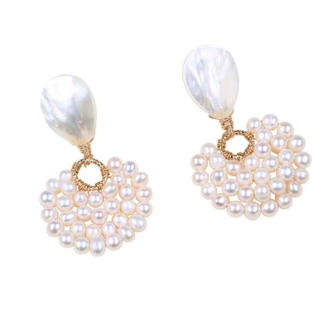 Cheapest Price Pearl Jewelry Sets - Handmade Women Gold Filled Design Freshwater Pearl Earrings,PE006 –  Daking Jewellery