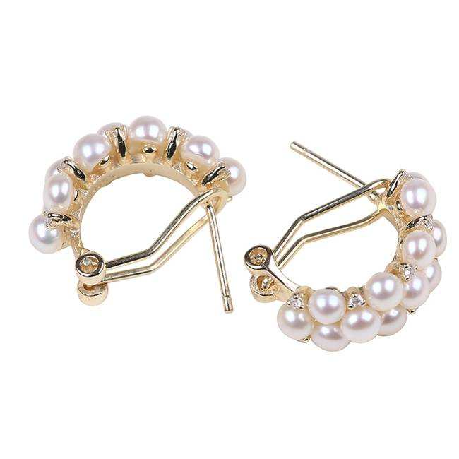 Dainty Huggie Hoops, 18k Gold Plated Sterling Silver, Tiny Hoops, Pearl Earrings, Mini Hoops, Gold Hoops, Pearls Hoops, Gold Ear