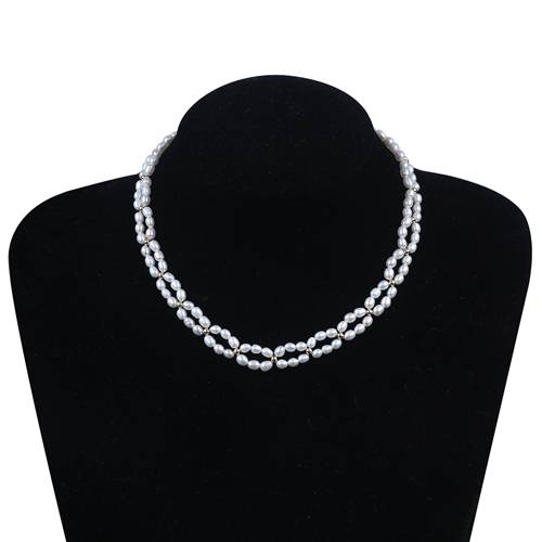 Best quality 12x16mm Tear Drop Pearl - Bridal Pearl Choker Necklace Multi Strand Necklace For Women,PN006 –  Daking Jewellery