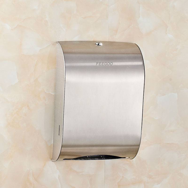 Factory wholesale Paper Towel Holder - Stainless Steel Wall Mounted Bathroom Paper Dispenser FG8903 – Feegoo