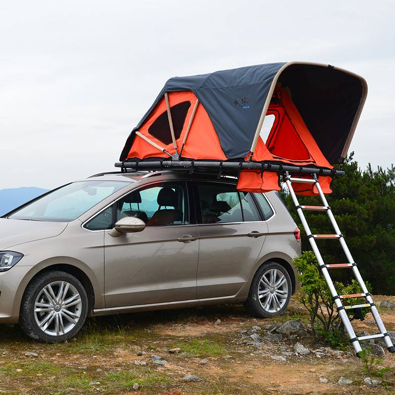 Soft car rooftop tent- folding manually with cornice Featured Image