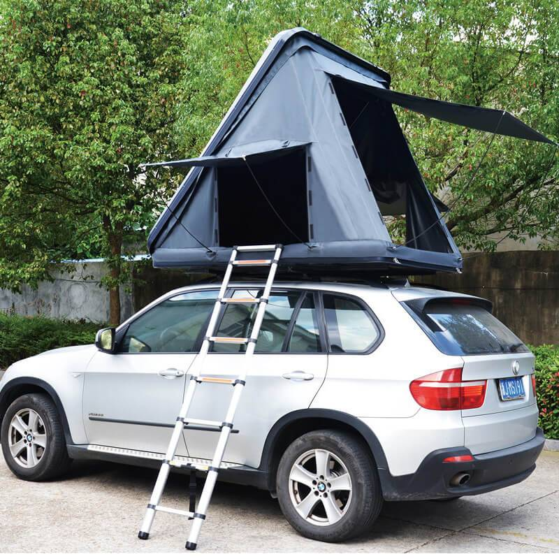 Ordinary Discount Roof Top Tent For Small Car - Tri-Angle Hard top folding car roof tent – Yuancheng Featured Image