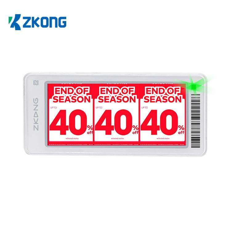 2020 Good Quality Price Tag Display Holders - Digital Price Tag E Shelf Label Pricer ESL For Supermarket Retail Stores – Zkong