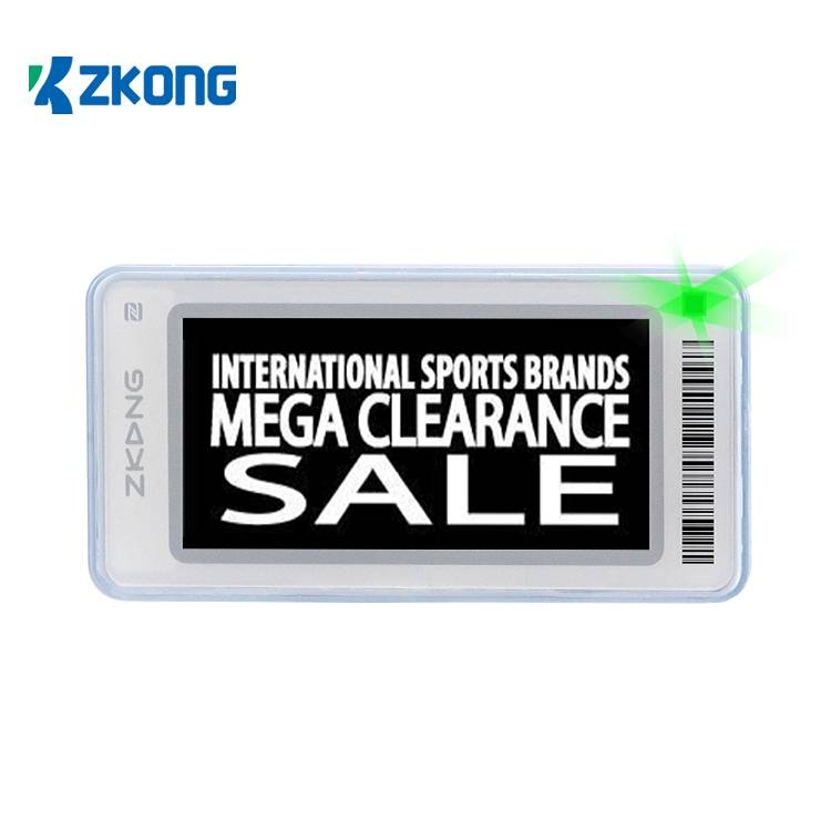 Good User Reputation for Esl Digital Price Tag Electronic Shelf Label - Wireless Retail Display Price Tags Esl Label Digital Shelf Talker For Low Temperature – Zkong