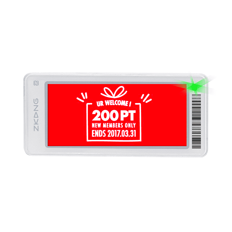 China wholesale Price Tag Label Sticker - E-Ink  NFC Digital Price Tag Supplier – Zkong