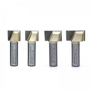 1-Inch Diameter Metric  2-Bottom Cleaning Router Bit 1/4-Inch Shank, 2 Flutes Carbide Tipped Cutter Surface Planing Tool