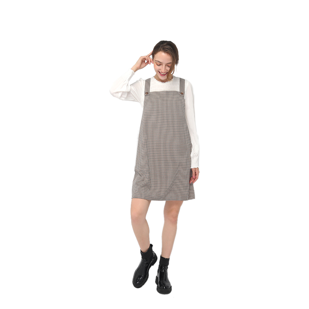 Good Quality Pullover Sweater - 2020 modern mini checks button fastening overalls women wholesale – Youchen