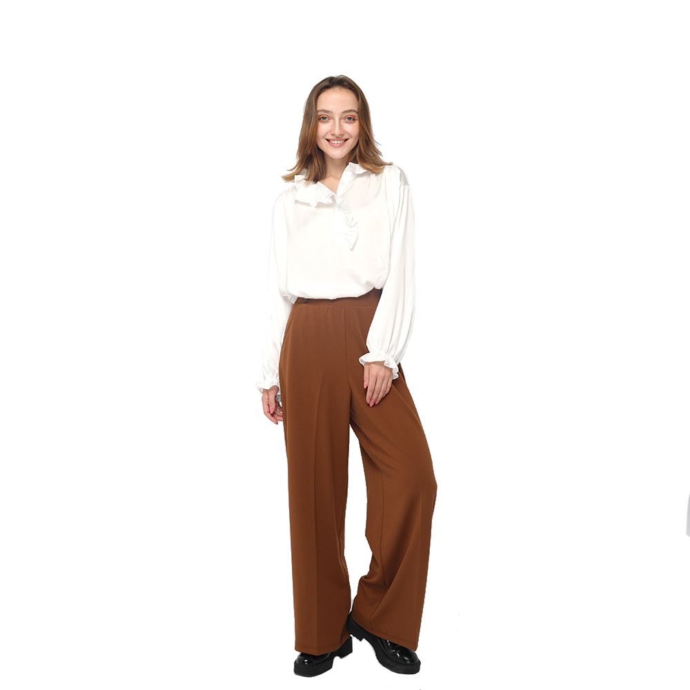 PriceList for Good Quality Pants - 2020 modern flowing office lady pants with high waist and side pockets wholesale – Youchen