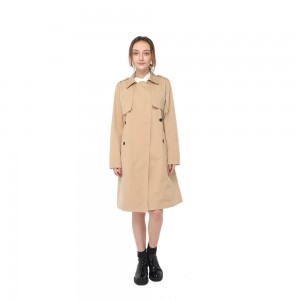Factory made hot-sale Linear Drain - 2020 modern knee length trench coat with lapel collar and double-breasted button fastening women wholesale – Youchen