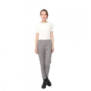 factory customized Girl Skirt - 2020 modern check mid-waist pants with side pockets and zipper fastening women wholesale  – Youchen