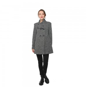 Big Discount Woman Clothing - 2020 modern high collar long sleeve wool blend coat women wholesale – Youchen