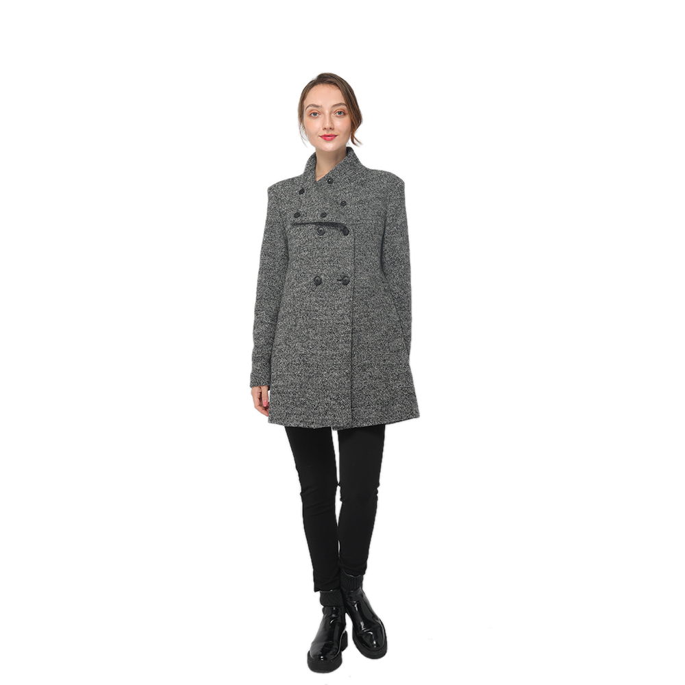 Bottom price Heel Proof Grating - 2020 modern high collar long sleeve wool blend coat women wholesale – Youchen