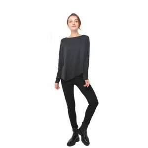 Factory Free sample Club Dress - 2020 modern loose fitting round neck long sleeve irregular hem modal T-shirt women wholesale – Youchen