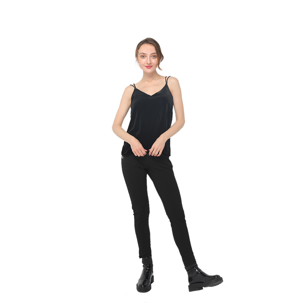 Good Wholesale Vendors Round Neck T-Shirt - 2020 modern elegant velvet camisole with double cords women wholesale – Youchen