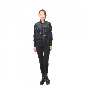 factory customized Women Fashion Fall Clothes - 2020 modern elegant velvet embroidery jacket with front zipper fastening women wholesale   – Youchen