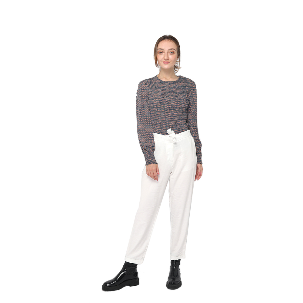Free sample for Cycling Pant - 2020 modern calf length office lady pants with adjustable drawstring and side pockets wholesale – Youchen