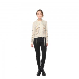 Discountable price Sportwear - 2020 modern linen embroidery shirt neck long sleeve jacket women wholesale  – Youchen