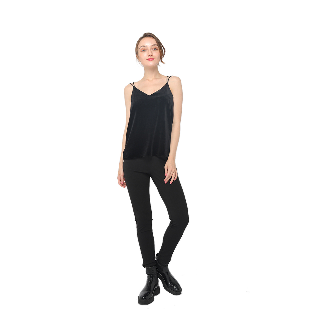 Good Wholesale Vendors Round Neck T-Shirt - 2020 modern elegant velvet camisole with double cords women wholesale – Youchen Featured Image