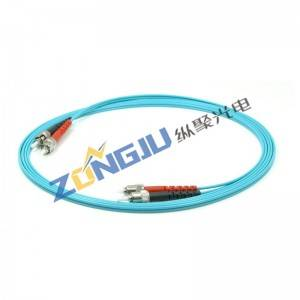 ST to ST OM3 Duplex Patch Cord