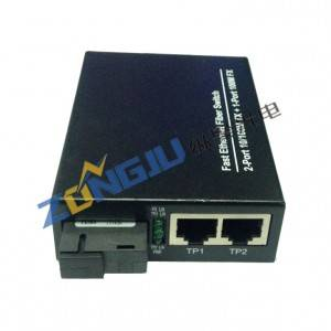 2 Ports 10/100Mbps Ethernet Fiber Switch Model ZJ-100102-25