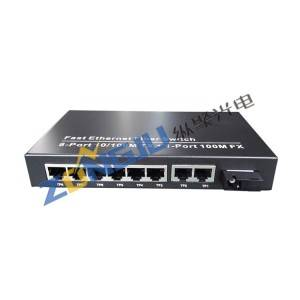 8 Port 100Mbps Ethernet to Fiber Switch  Model ZJ-100108-25