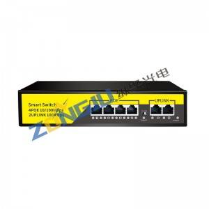4 Port 10/100M POE Switch-(4+2) 1006B