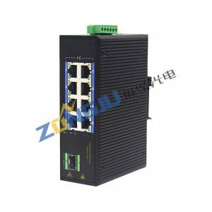 Unmanaged 8 Port 100M Industrial POE Switch with 1 SFP ZJD18GFP-SFP