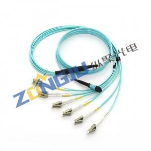 MTP To LC 12 Fibers OM3 Fanout Cable