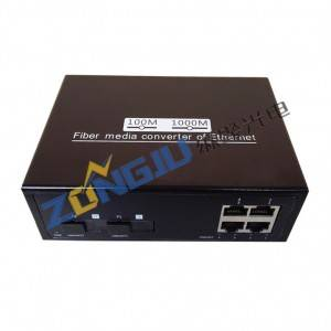 2 Port 1000Mbps Ethernet to Fiber Switch ZJ-1000204-S20