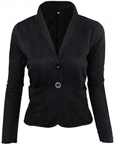 POTO Blazer for Women Ladies Fashion OL Business Blazer Elegant Slim Suit Coat Jacket Work Office Coat