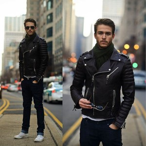 OEM/ODM Supplier Winter Jacket Men - Mens biker leather jacket, Mens fashion black motorcycle jacket, Mens jackets – Hengqianxiang