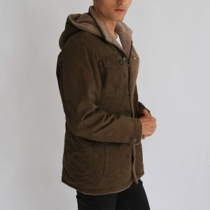 Factory Manufacturer Men Apparel Casual Wear Short Coat