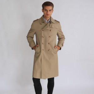 Competitive Price for Mens Leather Coat - Men Apparel Formal Wear Long Windbreaker Jacket – Hengqianxiang