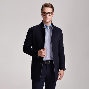 Low MOQ for European Fashion Winter Wool Coats - Factory Manufacturer Formal Short Woolen Men Coat – Hengqianxiang