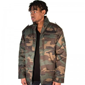 wholsale men's camo quilted winter coat