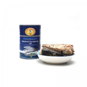 Canned Mackerel in natural oil